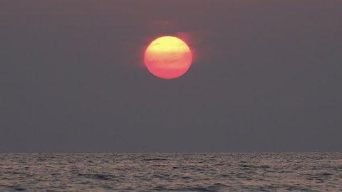 Ocean Sea Sunset Beach, Sunrise, Sundown, Dusk, Seashore Waves Seascape View