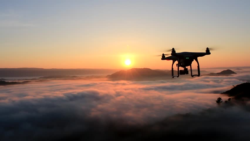 Drone flying over cloud in morning, in a aerial shot,  | Shutterstock HD Video #13649180