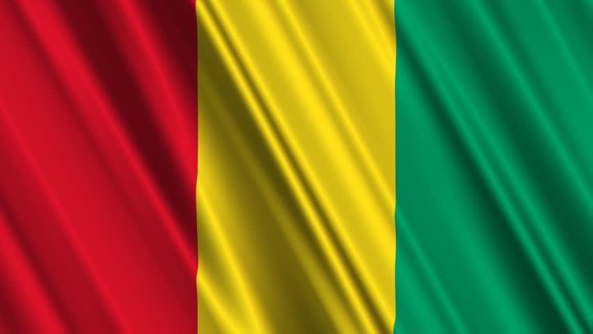 The flag of Guinea.