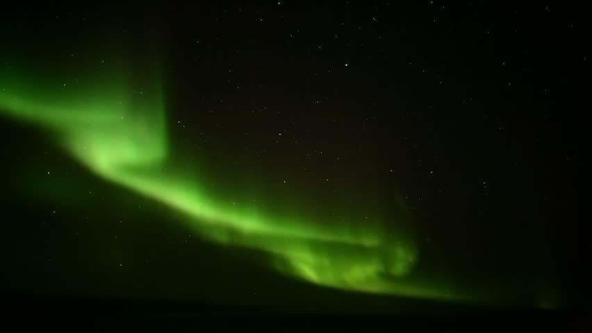 Northern lights on the polar sky