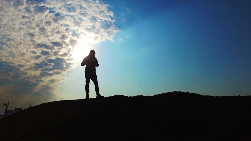 A man photographer Silhouettes | Shutterstock HD Video #13756655