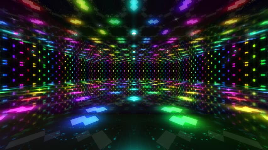 Disco Dance Floor Background Loop Stock
