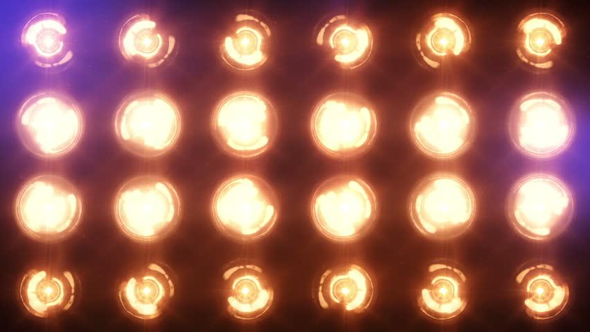 Stage Lights Close Up Floodlights