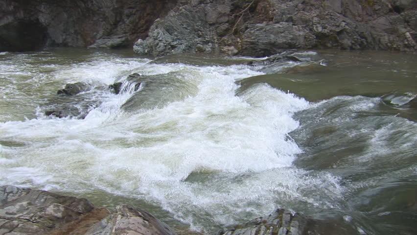 Waterfalls on a mountain river  | Shutterstock HD Video #1381045