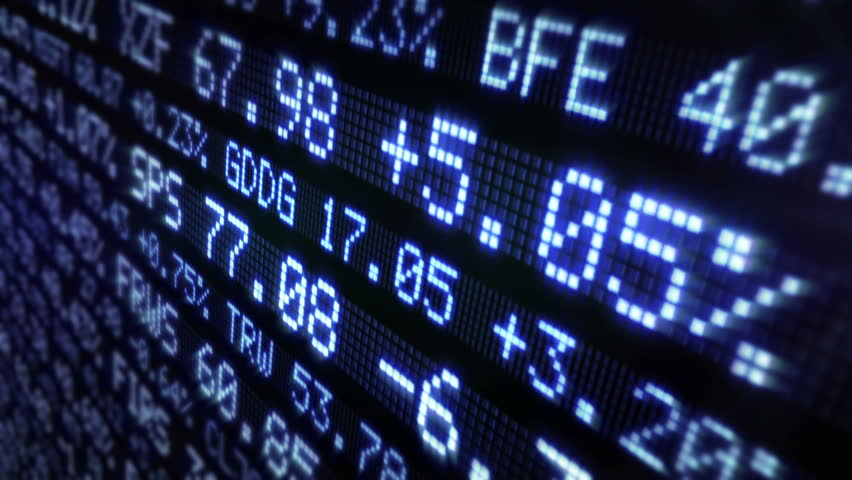 Stock Market Tickers. Loopable. Blue and Green. 2 videos in 1 file. Digital animation of Stock Market prices passing by. Lateral view.   Shutterstock HD Video #13811894