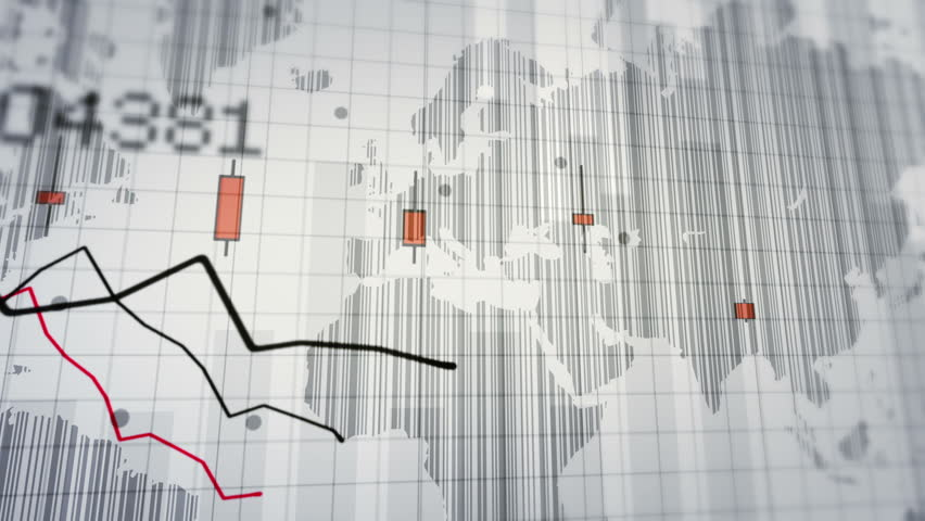 Declining financial chart close-up. Red and White. Loopable. 2 videos in 1 file. Financial data and declining charts. Economy background. More color options in my portfolio. | Shutterstock HD Video #13812311