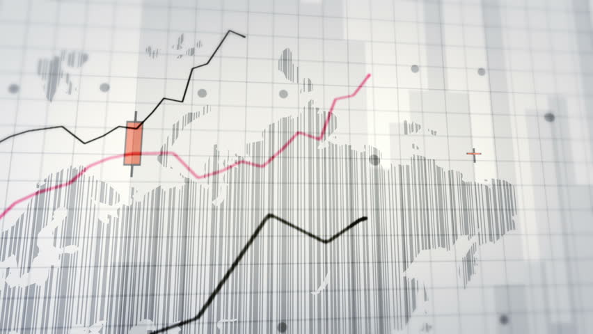 Growing financial chart close-up. Red and White. Loopable. 2 videos in 1 file. Financial charts with increasing profits. Economy background. More color options in my portfolio. | Shutterstock HD Video #13812476