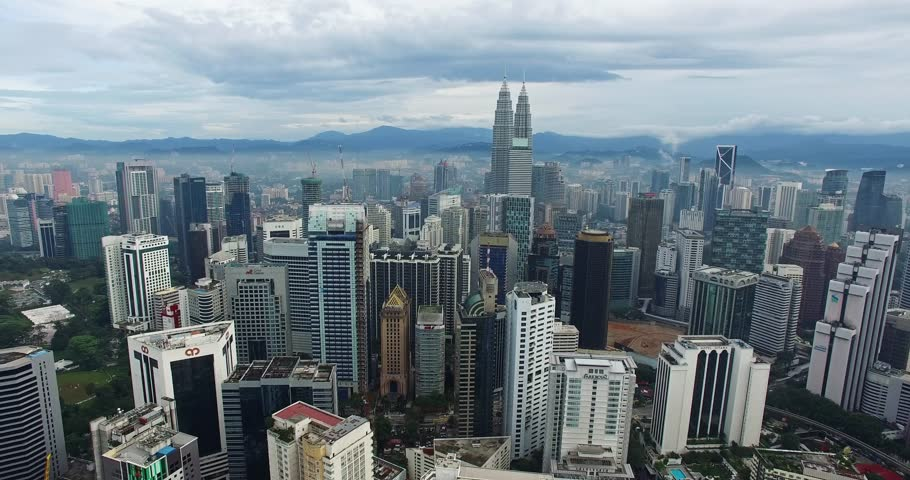 Aerial view of Kuala Lumpur city in Malaysia capital, tall buildings. | Shutterstock HD Video #13819784