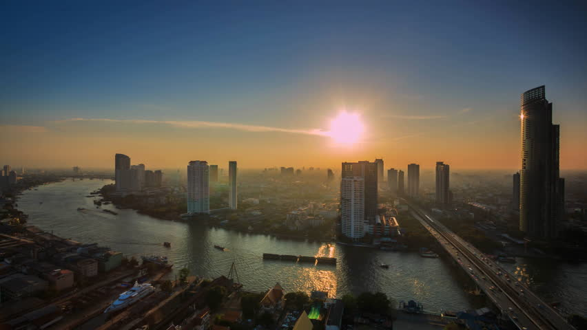 Time lapse view of Bangkok City Thailand