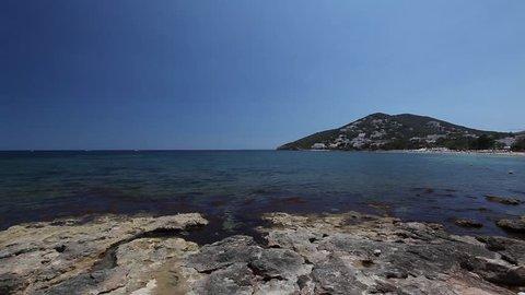 Santa Eulalia. Ibiza. Spain. Sea view.