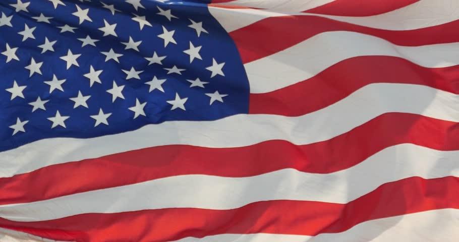 4k American flag is fluttering in wind. gh2_11153_4k | Shutterstock HD Video #13901747