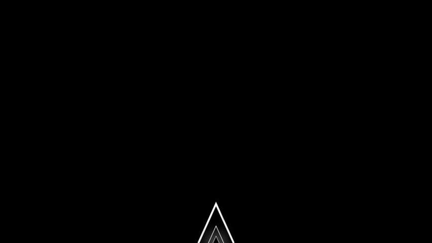 three dimensional white triangle motion graphic
