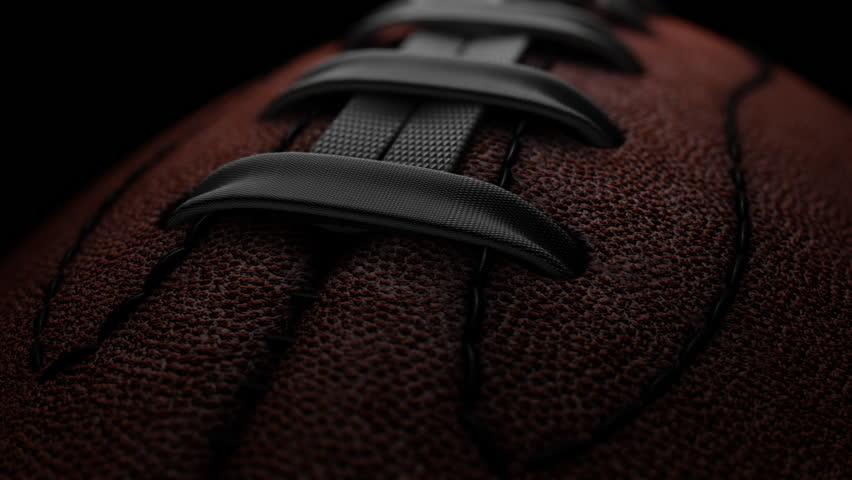 Closeup of Professional American Football