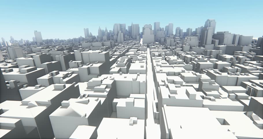 4k abstract urban business construction,flying over 3D Virtual Geometric City Office Buildings,aerial view of NewYork,web tech. cg_03240_4k #13914890