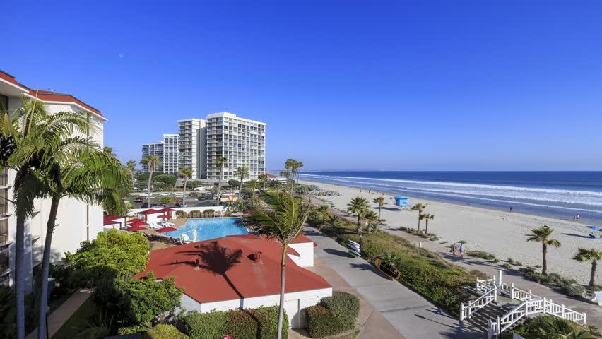 San Diego - California: 4K timelapse of Hotel del Coronado, San Diego, California, MAY 28, 2015   Shutterstock HD Video #13915454