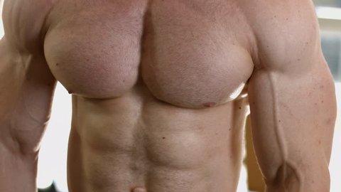 nackte bodybuilderin abs