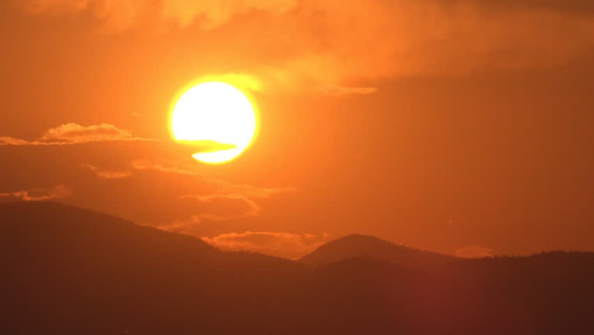 Sunset Time Lapse Mountains Sun Rays Clouds View Dramatic Sundown Top Landscape #13938698