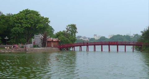 Time Lapse 18th August 2015, Near Ngoc Son Bridge, Hanoi,  Vietnam