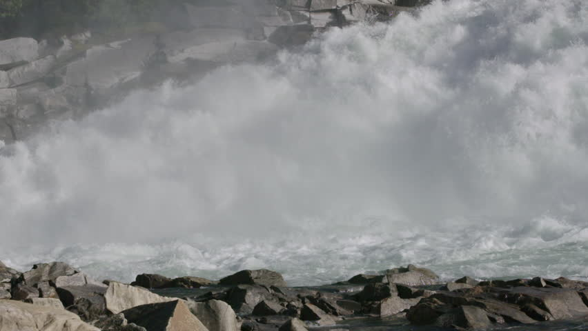 Slow motion shot of rapids and waterfall in norway | Shutterstock HD Video #13944458