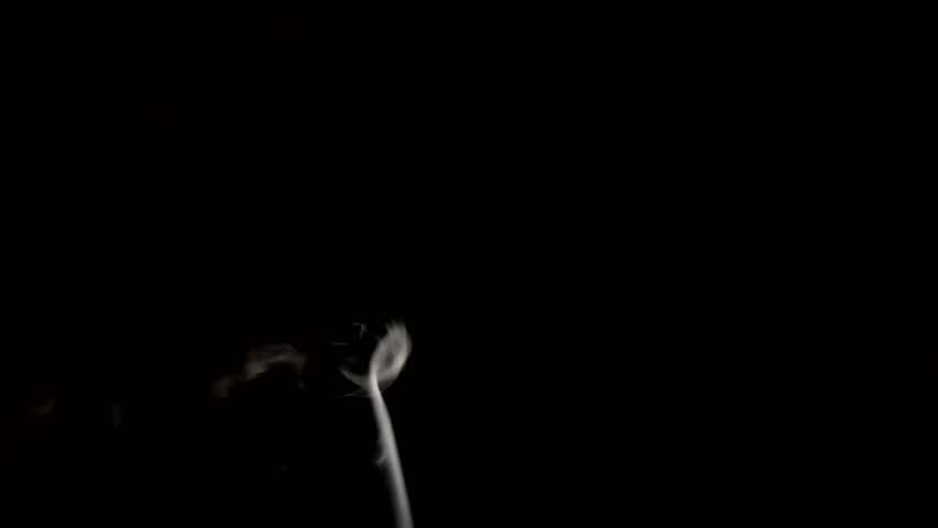 White smoke on black background | Shutterstock HD Video #13960232