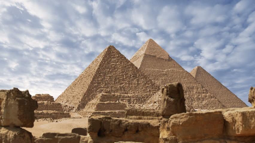Pyramids of Egypt time lapse