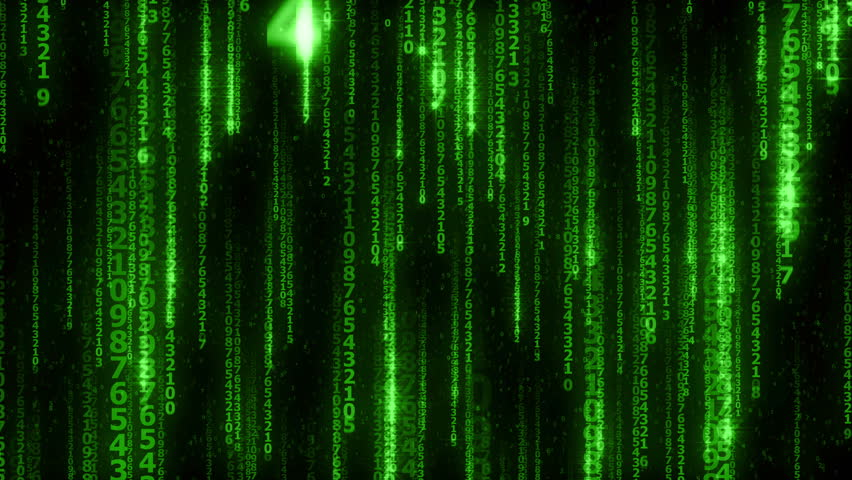 The many sparkling falling green lines digits - seamless loop   Shutterstock HD Video #14003621