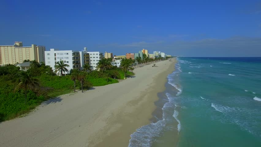 Aerial video Hollywood Beach FL USA   Shutterstock HD Video #14008436