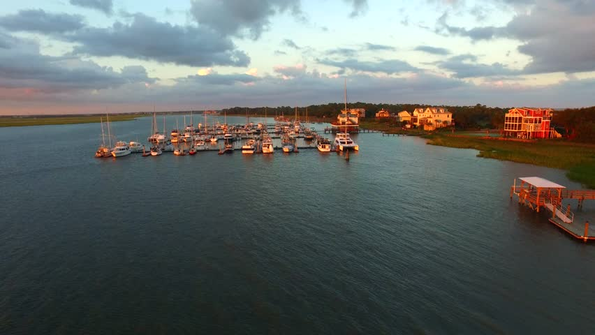 Drone Video of Yacht Club