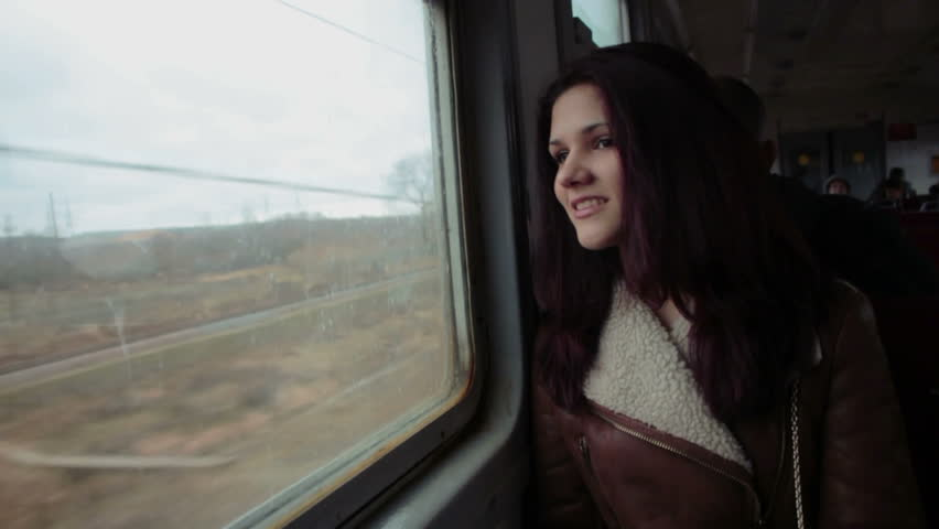 Attractive girl on the train | Shutterstock HD Video #14048897