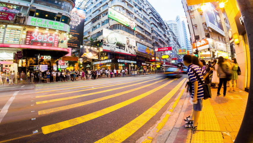 HONG KONG - 13 SEPT: Timelapse view of people at a crossing on the streets of Causway Bay in Hong Kong. Hong Kong is a major financial hub in the Asia region on 13 September 2013 in Hong Kong, China | Shutterstock HD Video #14084729