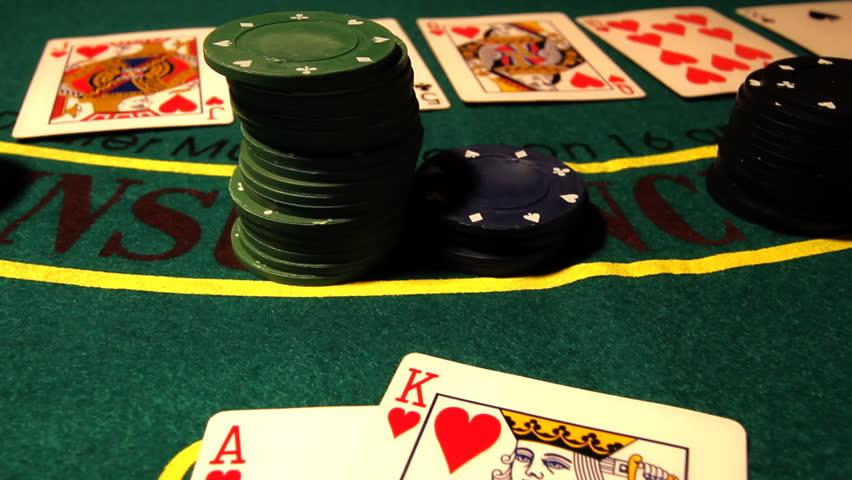 Poker table pans.Royal Flush. | Shutterstock HD Video #1408663