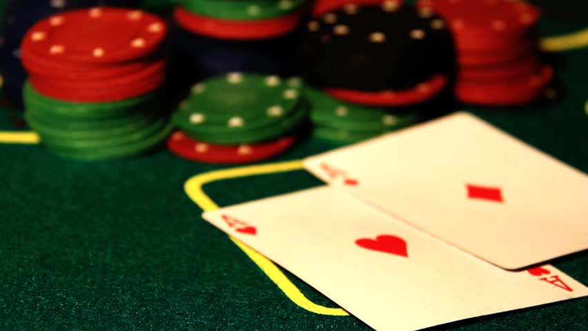 Poker Table.texas Holdem Win.double Aces. Stock Footage Video (100% Royalty-free) 1408891 | Shutterstock