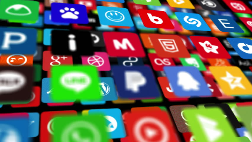 Social networking, animation icons   Shutterstock HD Video #14089880