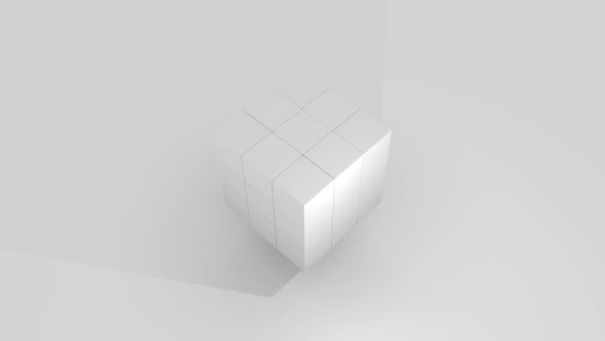 3D Cube. Vector illustration for your design. Simple geometric cube icon. #14118056