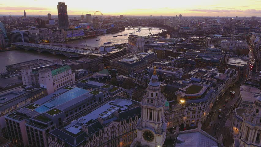 London from above in the evening #14131574