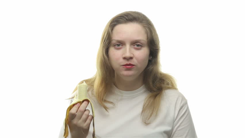 Fatty woman eating banana, fourth video from the series | Shutterstock HD Video #14263853