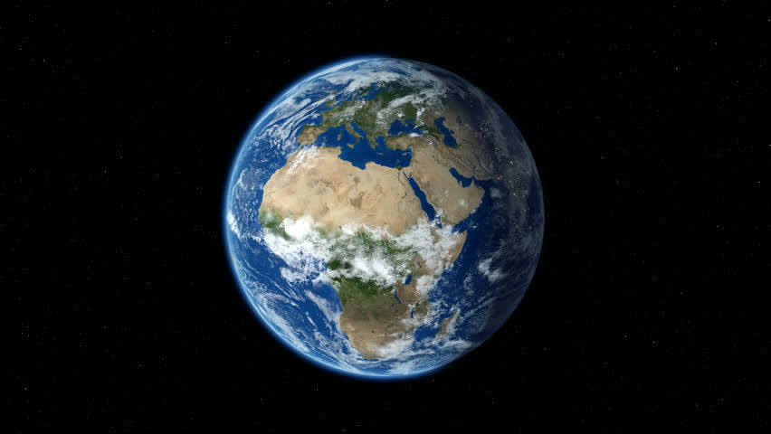 Earth zoom in from outer space to street level. Zoom to Europe. 4K