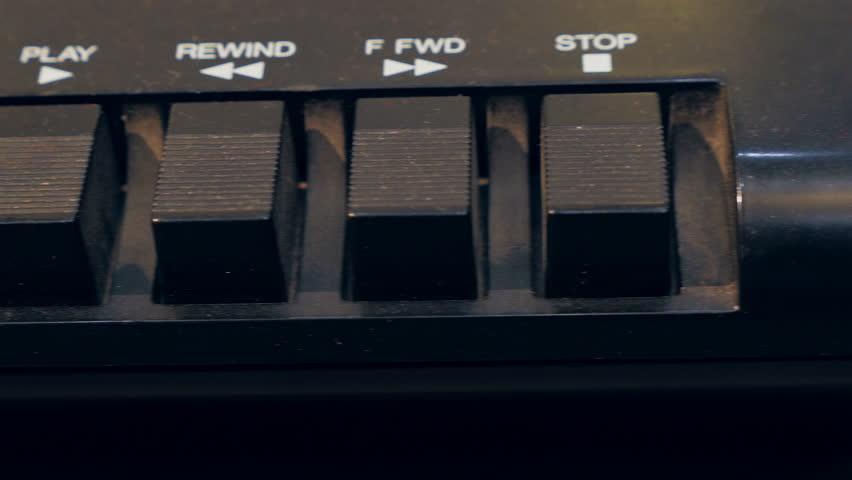 Dolly shot of tape recorder. Equipment of recording studio.   Shutterstock HD Video #14310733