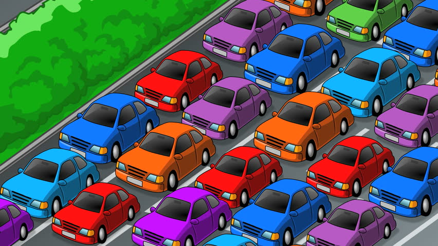 Cars Moving Slowly in Traffic Stock Footage Video (100% Royalty-free)  14346493 | Shutterstock