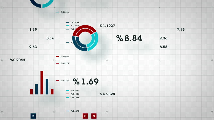 Business Data Scrolling - graphs and other business data scrolling along a grid. Available in multiple color options. All clips loop seamlessly.   Shutterstock HD Video #14396854