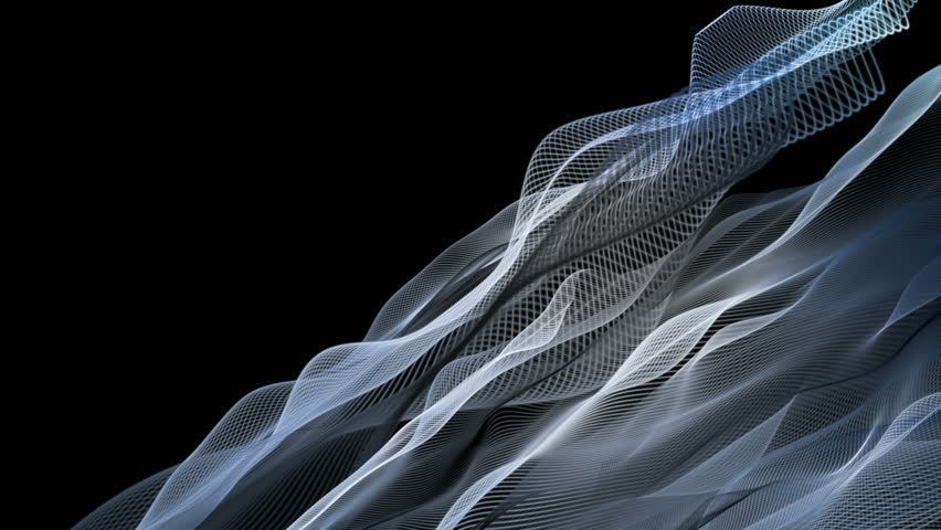 fantastic video animation with wave object in motion and space for your text, loop HD 1080p #14418055
