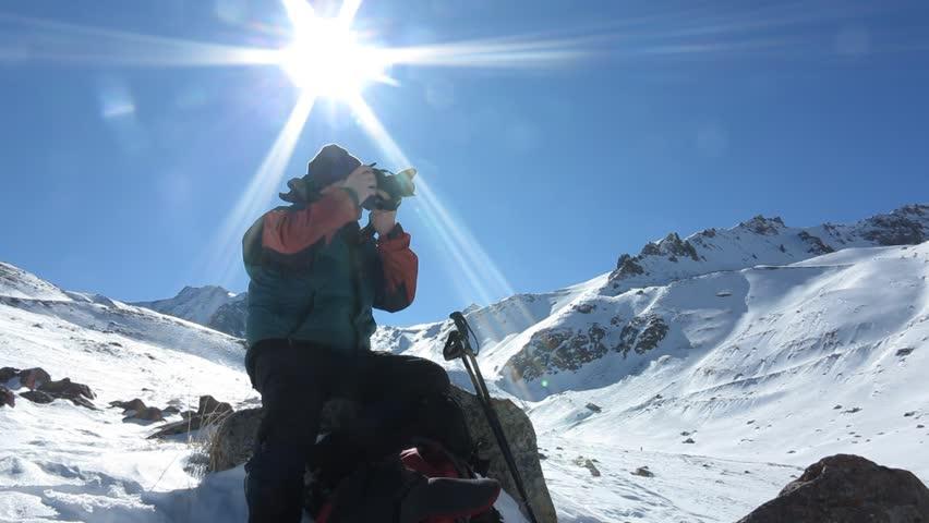 Traveler pictures of winter mountain landscape  | Shutterstock HD Video #14431045