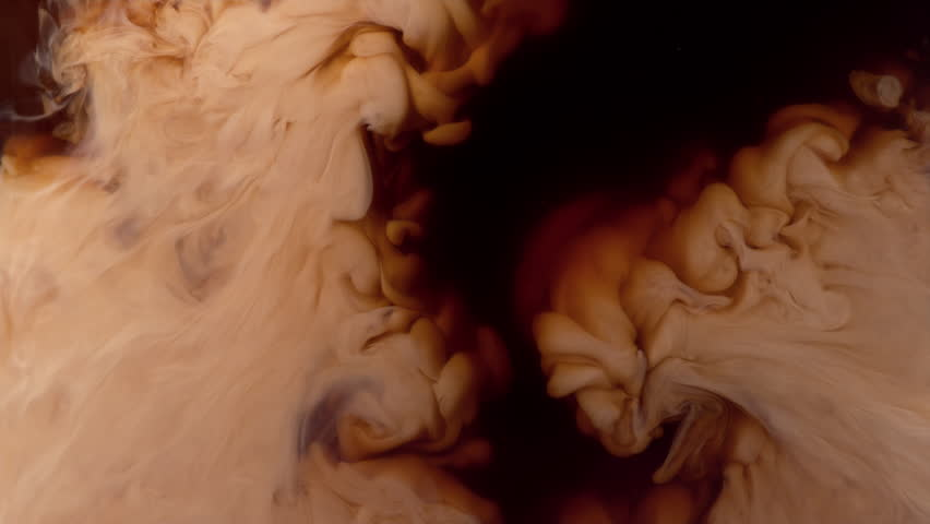 Coffee creamer swirling in coffee, shot with Phantom Flex 4K at 1000 frames per second #14488729