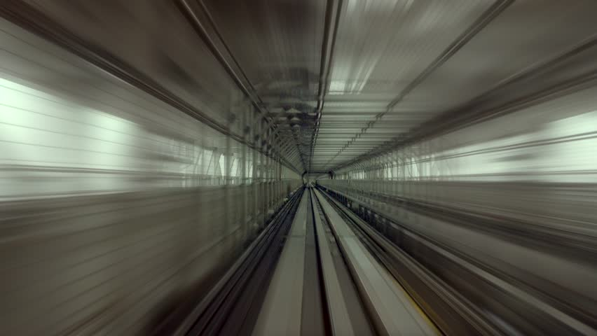 Moving train rail perspective zoom blur, film look color | Shutterstock HD Video #14510158