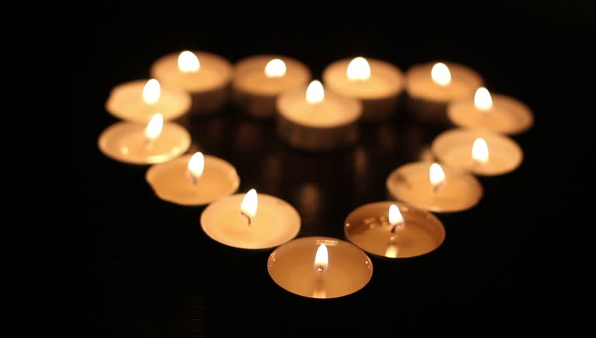 Tea Light Candles Forming The Stock Footage Video 100 Royalty Free 14545282 Shutterstock
