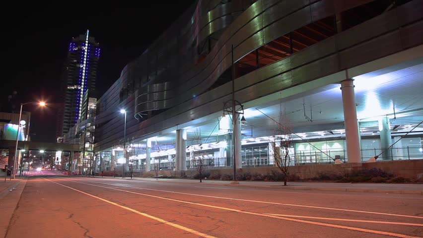 Time Lapse of light traffic in along the Colorado Convention Center in Denver | Shutterstock HD Video #14554315