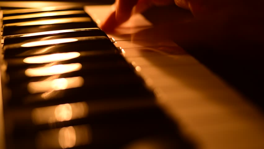 Playing piano close up rack focus | Shutterstock HD Video #14573404