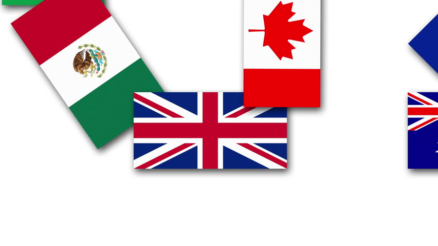 Video animation about the United Kingdom and other G20 nations flags. G20 stands for the major twenty nations of the World. This version emphasizes the United Kingdom. Unique design.   Shutterstock HD Video #14651116
