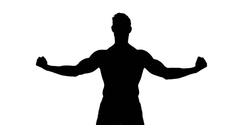 Muscular Silhouette of Man Flexing Stockvideoklipp (helt royaltyfria)  14687131   Shutterstock