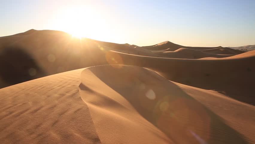 The amazing Erg chebbi dunes in the sahara desert, morocco | Shutterstock HD Video #14702476